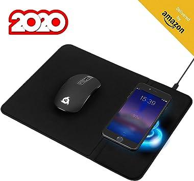 KLIM™ Inspiration + Makepad - Pack de ratón inalámbrico y Alfombrilla de ratón con Cargador inalámbrico para iPhone Samsung Huawei LG y más + Solución 3 en 1 + Batería Duradera + Nuevo 2020: Amazon.es: Electrónica