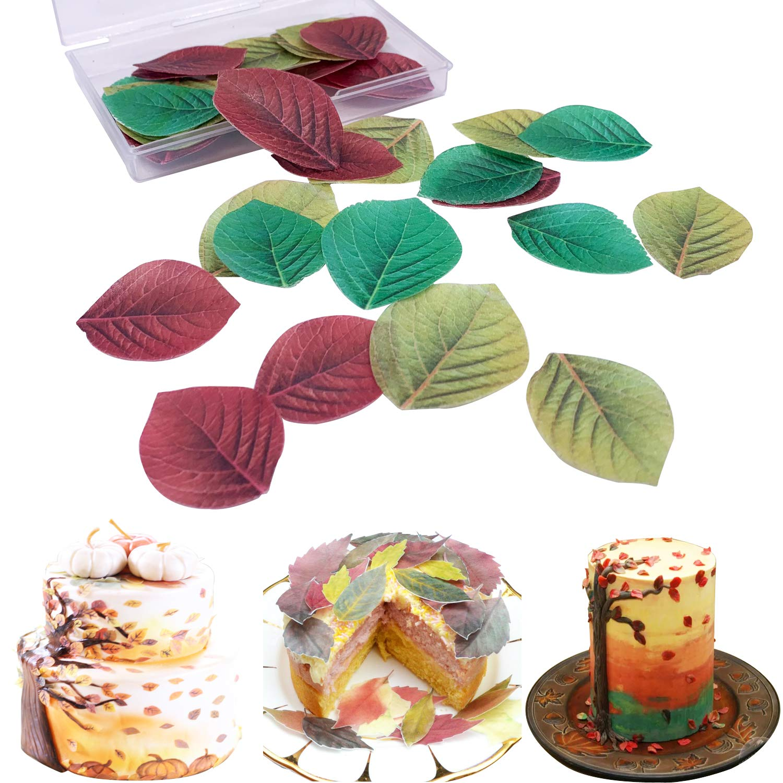 San Valent/ín y A/ño Nuevo Colorful Butterfly 44pcs Pascua Decoraci/ón para tarta de papel de arroz comestible multicolor para Navidad