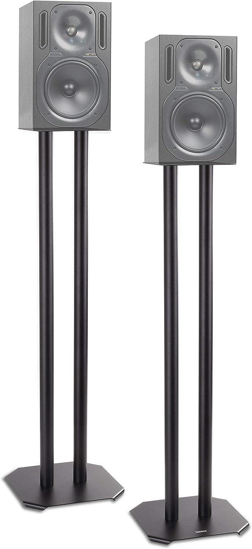 Duronic SPS1022 /80 Soporte para Altavoz - 80 cm de Altura - Estabilidad con Arena - Conos antivibración - Compatibilidad Universal con Altavoces HiFi / Estéreo / Home Cinema 5.1