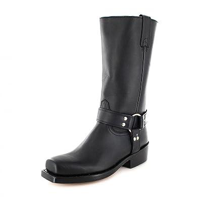 the latest 7b620 f803c FB Fashion Boots Buffalo Boots 1801 Black Bikerstiefel für Damen und Herren  Schwarz Lederstiefel