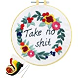 Artilife Embroidery Kit Cross Stitch Kit for Adults with Pattern Embroidery Hoop Thread Floss Craft Project