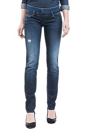 Salsa - Jeans Push Up Wonder avec Ceinture Double - Femme - Bleu ... 703797419c1