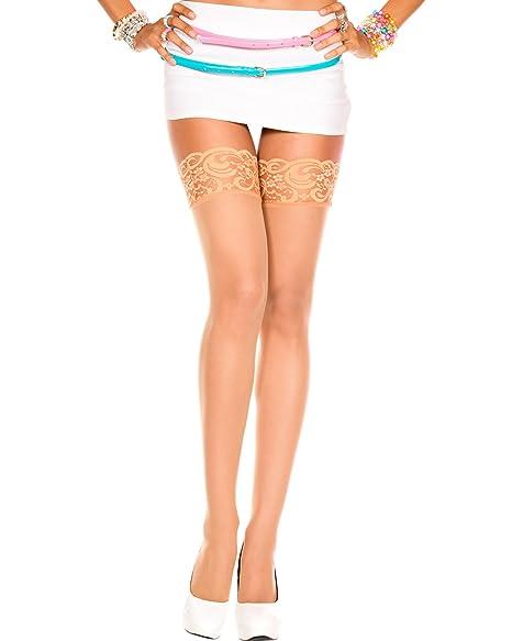 7bd52da84 Amazon.com  Sheer Thigh High Stocking Hosiery Backseam Black or Nude ...