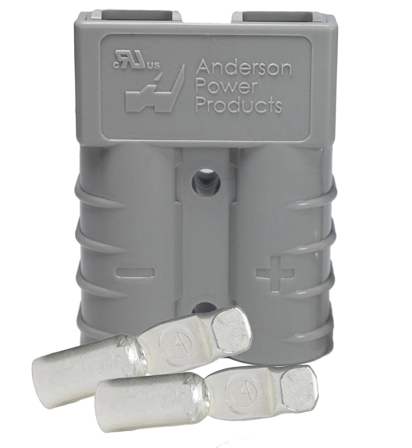50 Amp Gray #6 AWG Battery Connector Replaces Anderson 50 Amp