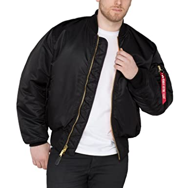 check out d861e c6ee1 Alpha Industries Herren Bomberjacke MA-1 100101 Stehkragen