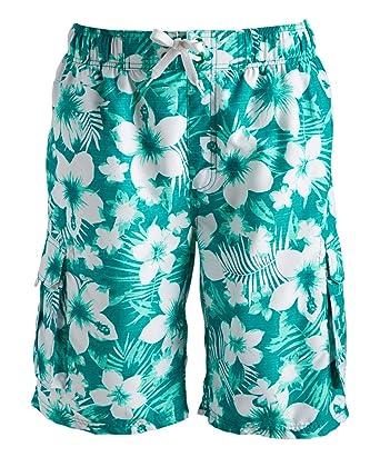4bfa9cb99fe9f Kanu Surf Men's Dominica Floral Quick Dry Beach Board Shorts Swim Trunk,  Green, X