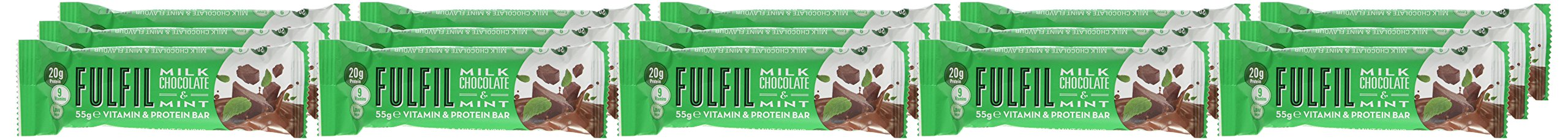 Fulfil Milk Chocolate & Mint Vitamin and Protein Bar - Pack of 15 by Fulfil (Image #2)