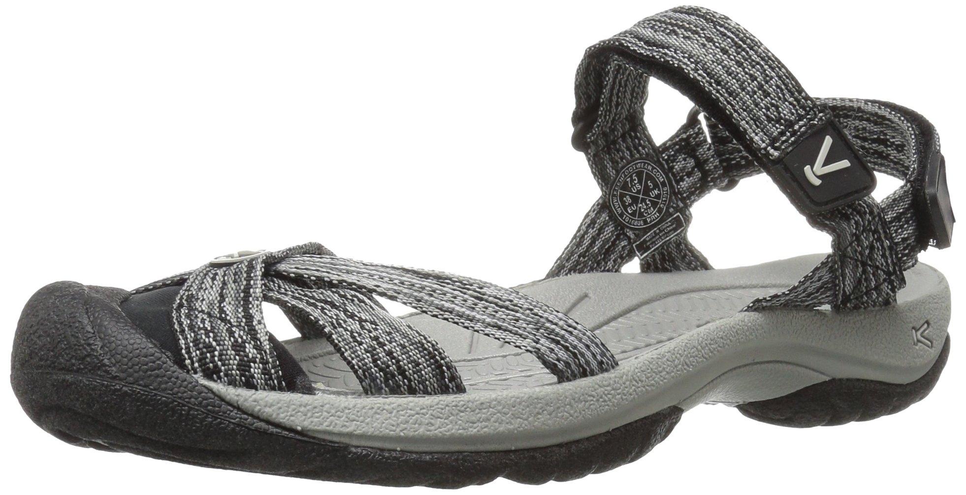 KEEN Women's Bali Strap Sandal, Neutral Gray/Black, 5 M US