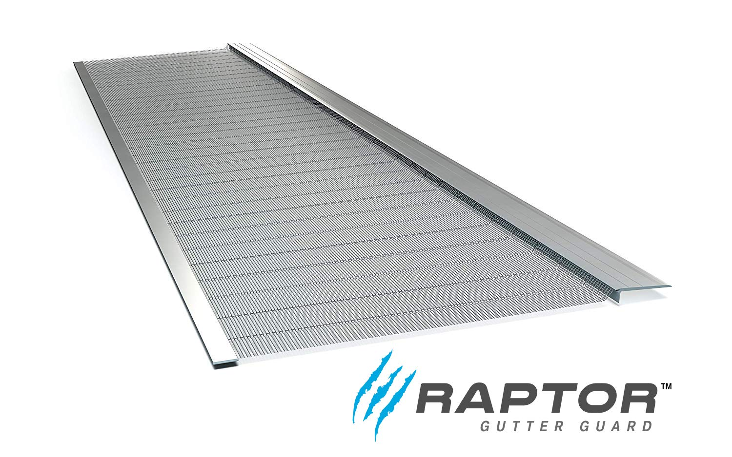 Raptor Gutter Guard   Stainless Steel Micro-Mesh, Contractor-Grade, DIY Gutter Cover. Fits Any Roof or Gutter Type - 48ft to a Box. Fits a Standard 5'' Gutter. by Gutterglove