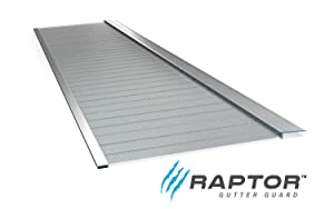 "Raptor Gutter Guard | Stainless Steel Micro-Mesh, Contractor-Grade, DIY Gutter Cover. Fits Any Roof or Gutter Type – 48ft to a Box. Fits a Standard 5"" Gutter."