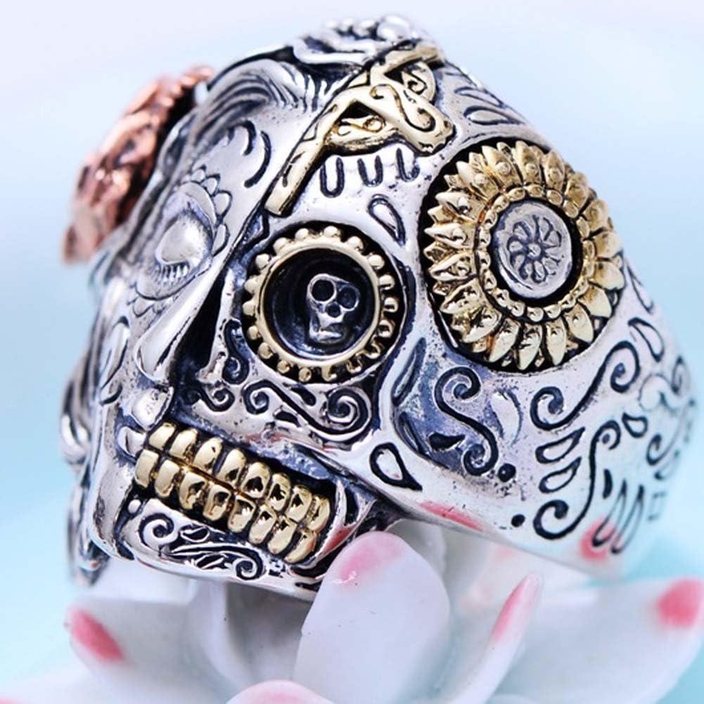 Jade Angel Thai argento angeli e Demoni Skull Style Men Ring