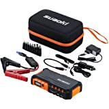 Suaoki G7 - Jump Starter 18000mAh, 600A arrancador emergencia para coche (vehículo de gas o diesel con bateria 12V, linterna LED, USB puertos 12V/16V/19V cargador batería externa, para smartphone, tablet) Naranja