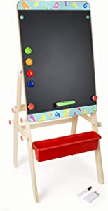 Wooden 3-in-1 Magnetic Chalkboard Table - Premium Toy Designed for Kids, Ages 4 & Up. A Small Foot Design