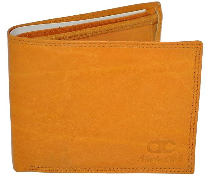 6c412ff7658f8 Braun Herren Ledergeldbörse aus echtem Leder Querformat Portemonnaie  Geldbeutel -- AL-3102  Amazon.de  Koffer
