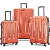 Samsonite Centric Expandable Hardside Luggage Set with Spinner Wheels, 20/24/28 Inch, Burnt Orange