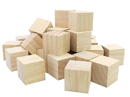 Amazoncom 12pc Blank Real Wood Natural Alphabet Blocks For