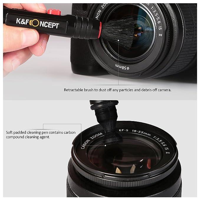 K&F Concept Kit de Limpieza para Lentes Cámara Réflex Incluye ...