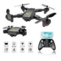Drone FPV Plegable, EarthSave XS809W WiFi FPV RC Quadcopter Con Cámara HD 120 ° Gran Angular,One Key Return,Flight Path,G-Sensor,Long Flight, Compatible con VR Headset
