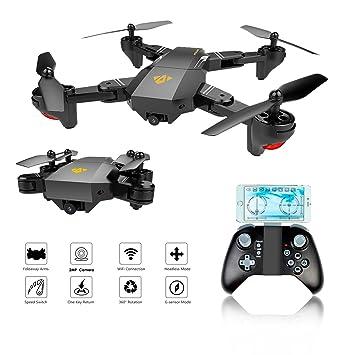 Drone FPV Plegable, EarthSave XS809W WiFi FPV RC Quadcopter Con ...
