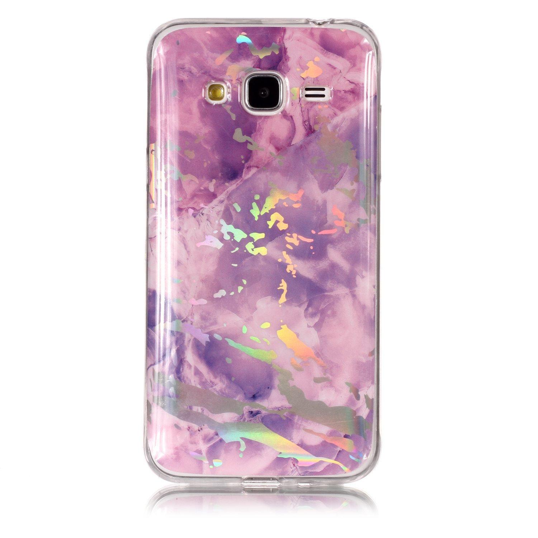 Felfy Coque Samsung Galaxy J3 2016 Marbre,Galaxy J3 Case Slim,Samsung J3 2016 Coque Silicone Motif Marbre Ultra-Mince Glitter TPU Silicone T/él/éphone Couverture Etui de Protection Bumper en TPU Case