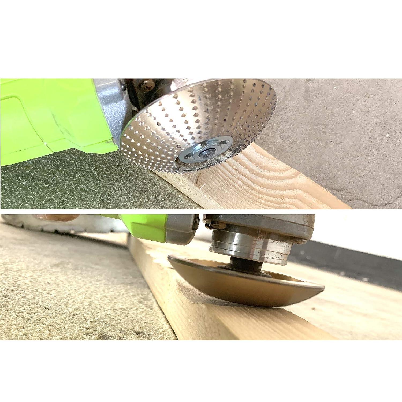 RKURCK Plato para dar forma a la madera escofina Disco abrasivo Rueda de carburo de tungsteno Herramienta para tallar lijado de madera para amoladoras angulares