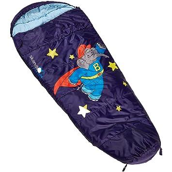 skandika Benjamin Blümchen - Saco de Dormir para niños Tipo Momia - 170 cm - Bolsa Transporte - Peso 900 gr (Stars (Azul)): Amazon.es: Deportes y aire libre