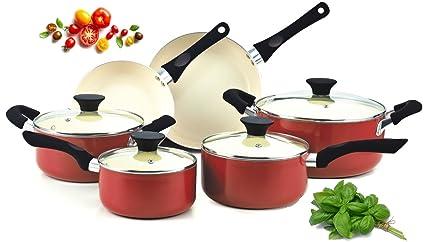 Amazon com: Premium Cookware Set Nonstick PTFE-Free, PFOA