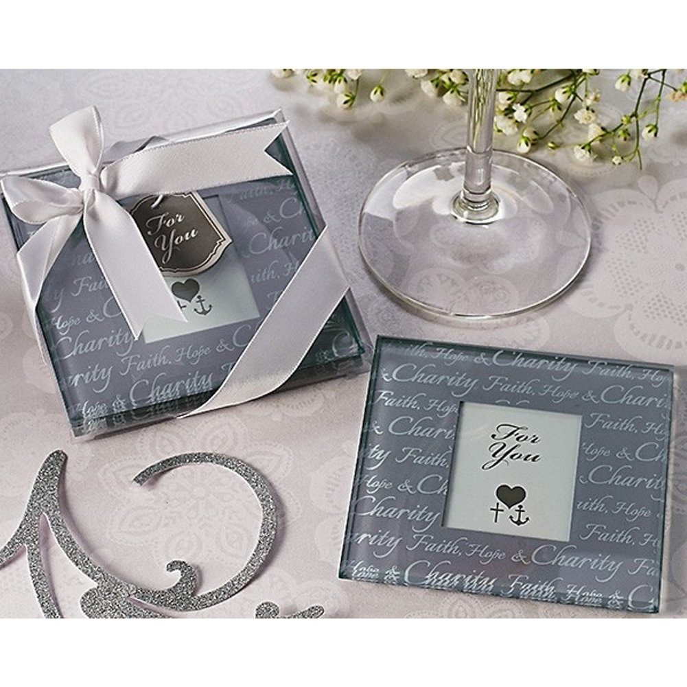Faith, Hope and Charity Photo Coaster Set (Pack of 40 Sets)