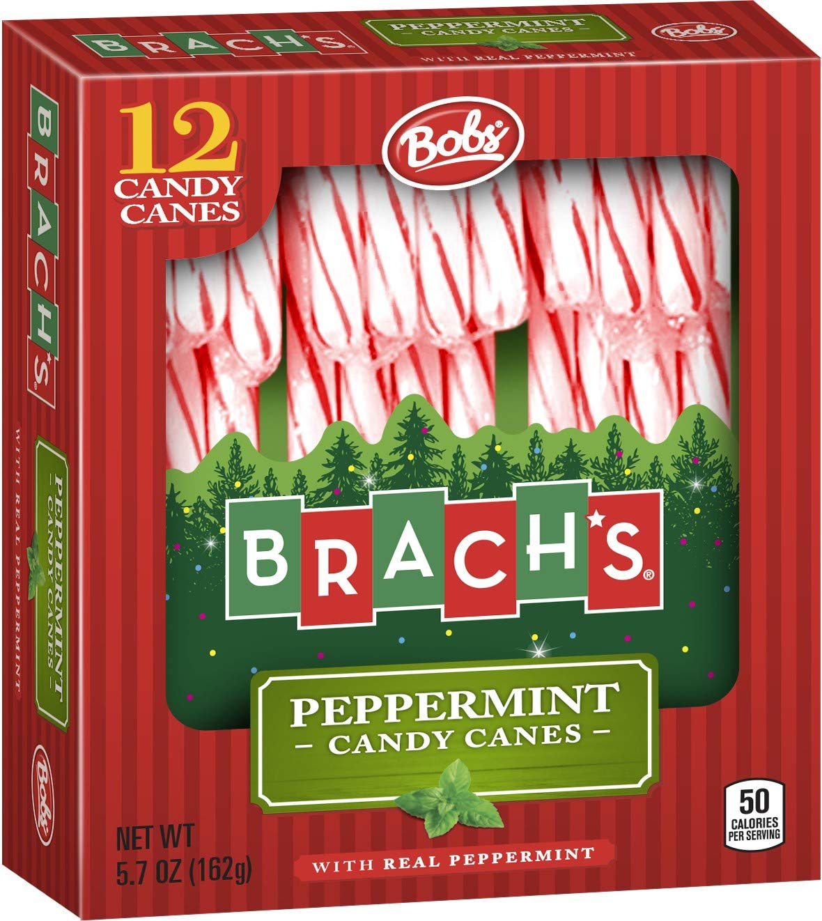 Brach's Red and White Peppermint Candy Canes, 12 ct