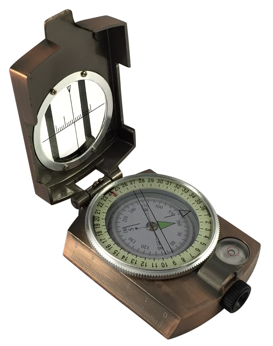 Lensatic Sighting Compass The Perfect Hiking And Camping Compass Antique Brass 8