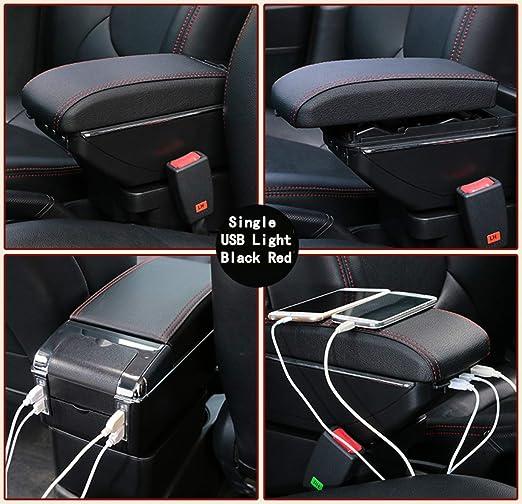 ... de almacenamiento,Proporcionar un lugar de descanso para el brazo,Con 7 puertos USB ,Portavasos,Cenicero extraíble,Beige: Amazon.es: Coche y moto