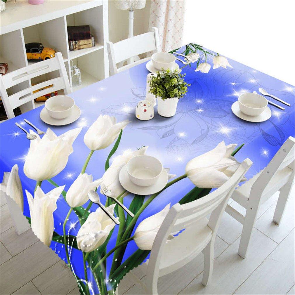 Couleur 3 150cm X 230cm 3D Nappe Europe Fleurs Sculptées Motif Tissu Imperméable épaissir Rectangulaire De Table De Mariage Tissu De Maison Textiles Couleur 5 150cm X 230cm