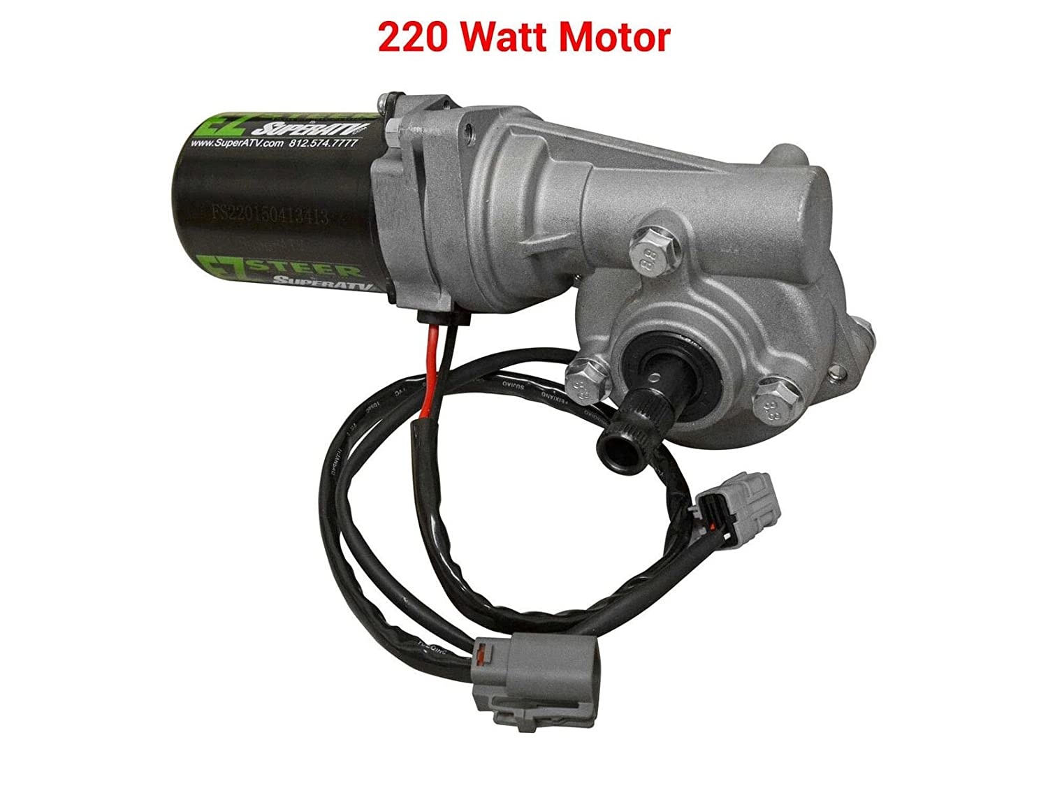 Superatv Can Am Maverick Ez Steer Power Steering Kit Easy Wiring Harness Vw Air Cooled 2012 2015 220w Motor Automotive