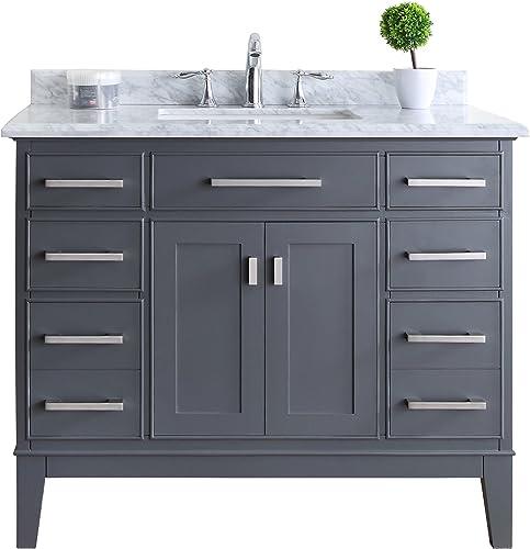 Ari Kitchen and Bath AKB-DANNY-42-MPGR Danny Vanity Set