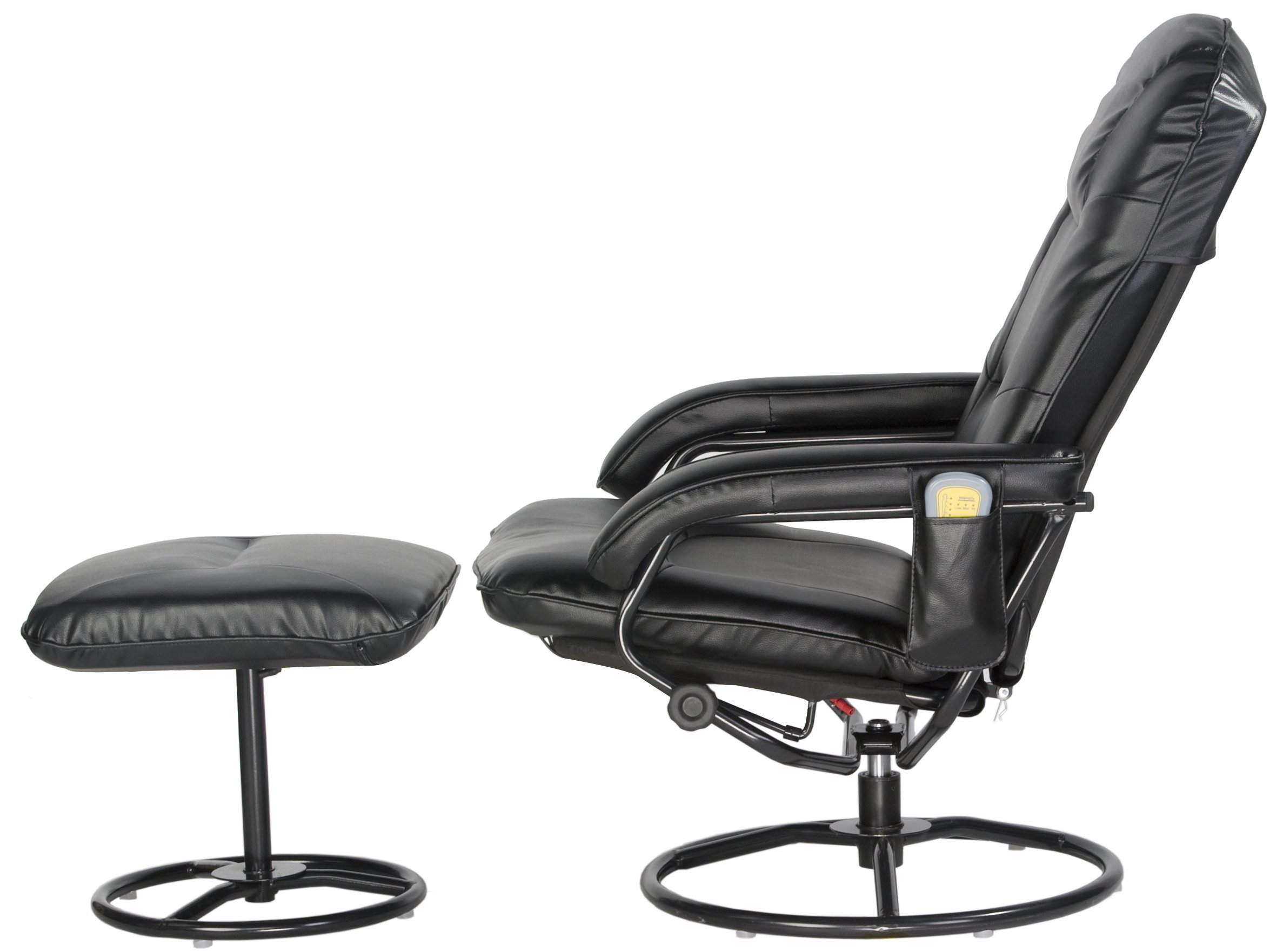 Comfort Products 60-0582 Leisure Recliner Chair with 10-Motor Massage & Heat, Black by Comfort Products (Image #3)