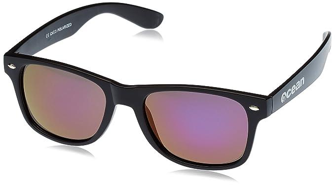 Ocean Sunglasses Beach wayfarer - lunettes de soleil polarisées - Monture : Noir Laqué - Verres : Jaune (18202.3) qSlvEzu