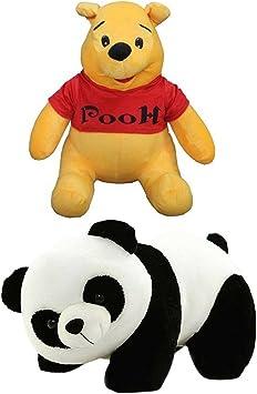 Combo Panda with Pooh Stuffed Toys Teddy Bears