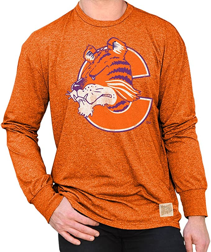 Elite Fan Shop NCAA Mens Tri Blend Long Sleeve T Shirt Gray Retro