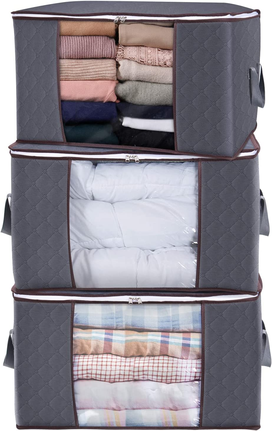 Marie kondo would be proud of you for organizing your closets with these fabric storage bins. #mariekondo #closetorganization #nurseryorganization #storagemusthaves #organizedhome