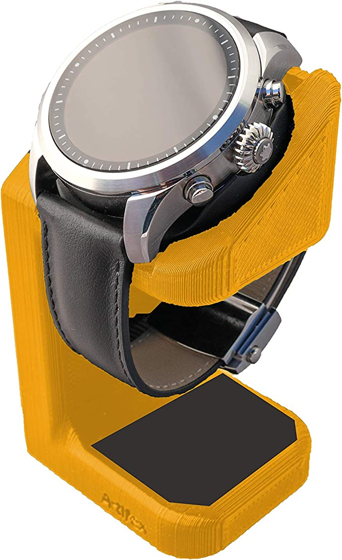 Artifex Design Stand Configured for MontBlanc Summit 2 Smartwatch, Charging Stand, Artifex Charging Dock Stand for MontBlanc Summit 2 only (Orange)