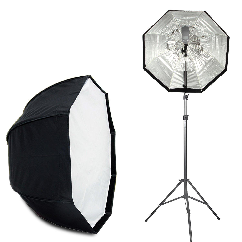 VILTROX 32''/80cm Umbrella Octagon Softbox Reflector with Carrying Bag for Studio Photo Flash Speedlight