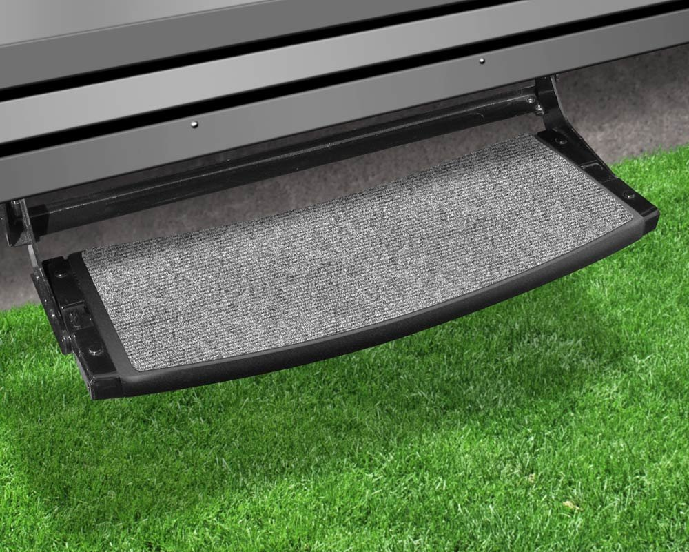 Amazon.com: Prest O Fit 2 0373 Outrigger Radius RV Step Rug Castle Gray 22  In. Wide: Automotive