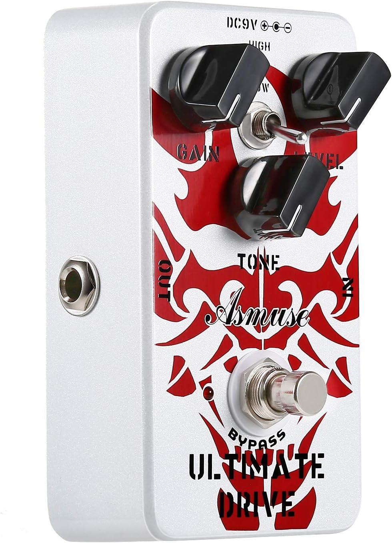 Asmuse Ultimate Overdrive Pedal con pedal de efecto de guitarra eléctrica True Bypass AE-02 Palabra clave: pedal de efectos de pedal Overdrive, pedal de efecto de guitarra