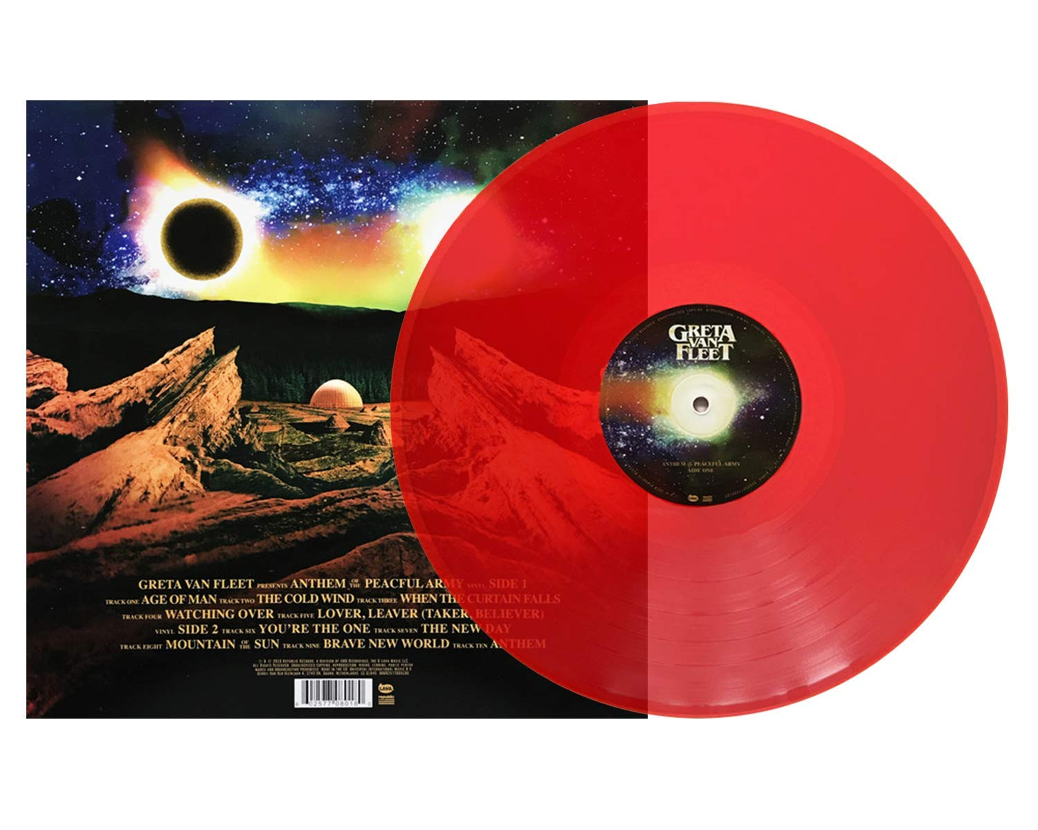 Greta Van Fleet - Anthem of the Peaceful Army Exclusive Limited Edition LP Translucent Red Vinyl