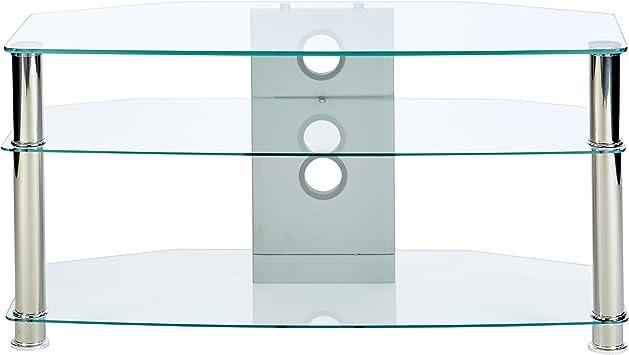 Soporte para televisor de Cristal Transparente con Patas cromadas para hasta 46: Amazon.es: Electrónica