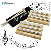 Energy Chime Three Tone with Wooden Percussion Hammer, Classroom Meditation Bell