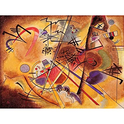 Wee Blue Coo Wassily Kandinsky Abstract Small Dream Red Old Painting Art Print Poster Wall Decor 12x16 Inch