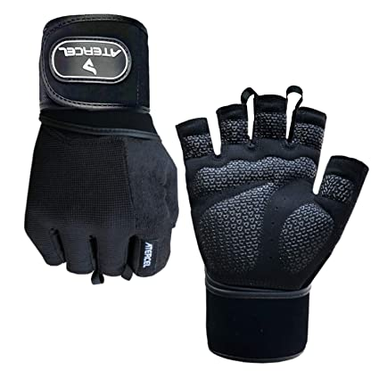 Amazon Com Atercel Weight Lifting Gloves With Wrist Wraps Support
