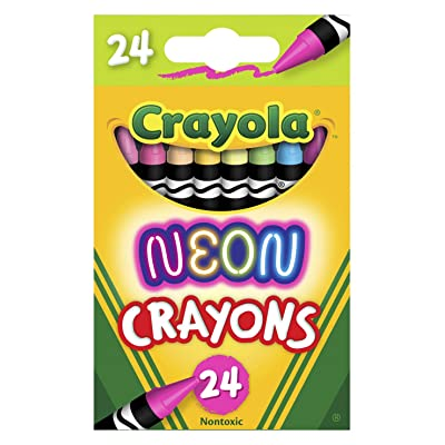 Crayola Neon Crayons, Back To School Supplies, 24Count: Toys & Games