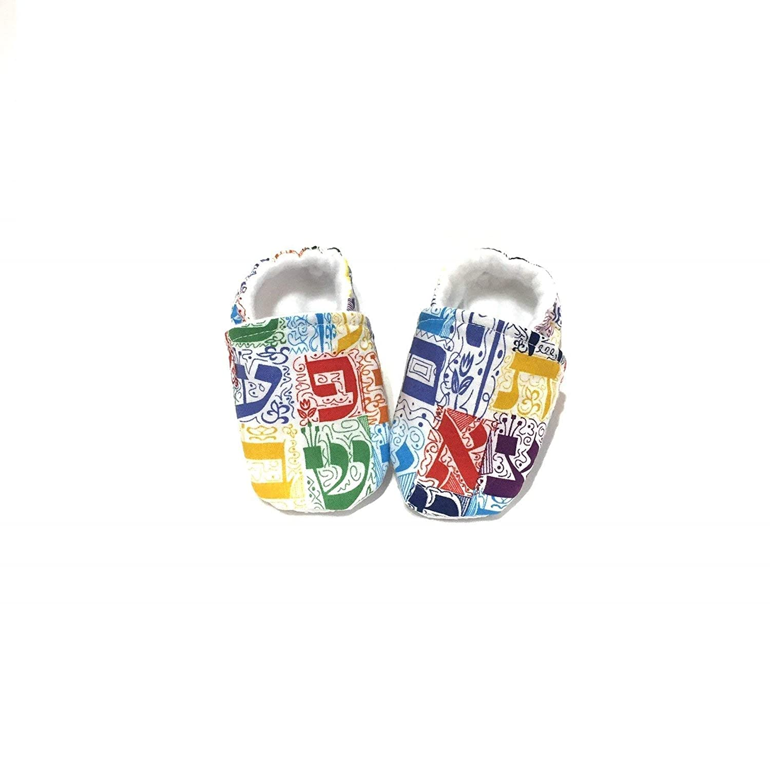 Soft Baby Shoes Hebrew Alphabet Baby Shoes White Baby Booties Hebrew Baby Gift Baby Naming Gift JEWISH BABY SHOES Jewish Newborn Gift New Baby Gift
